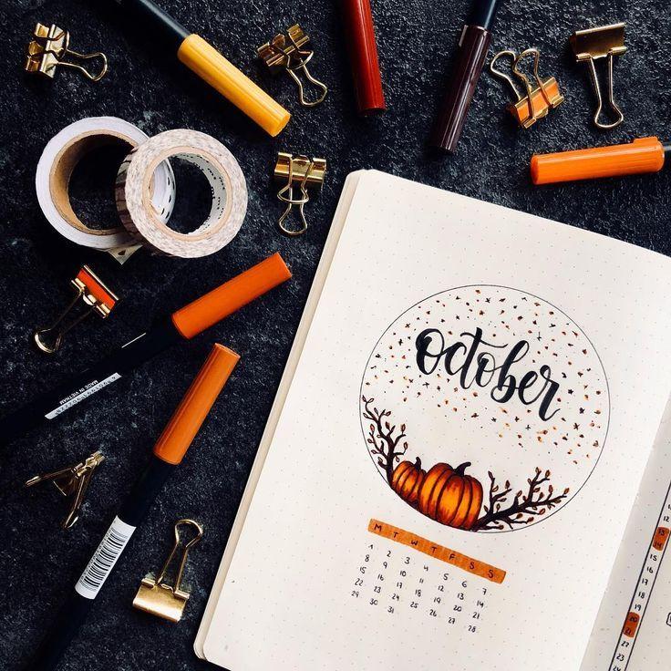 """• """"Es ist Oktober, yay"""" • Dies ist mein Oktober-Aufstrich. Ich werde mich in diesem Monat an Brauntöne, ein wenig Orange, Kürbisse und Herbstblätter halten."""