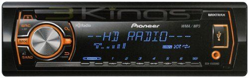 Pioneer DEH-X5500HD In Dash CD/MP3 Receiver with HD Radio, MIXTRAX and Pandora by Pioneer Mobile. $97.91. The DEH-X5500HD Single Din In Dash CD/MP3 Receiver with HD Radio, MIXTRAX and Pandora has direct control of an iPod/iPhone, and access to music stored on compatible Android smartphones. The multi-line, multi-segmented LCD display with LED backlight is 35% larger than previous models and offers improved visibility and legibility. Customize your sound with a 5-band graphic eq...