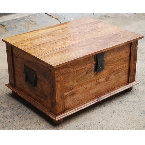 Sierra Nevada Solid Wood Storage Chest Coffee Table