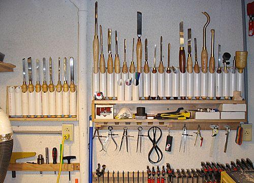 Lathe tool storage