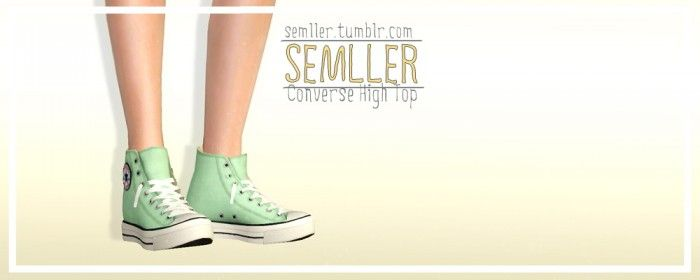 Converse High Tops by Semller • Sims 3 Downloads CC Caboodle