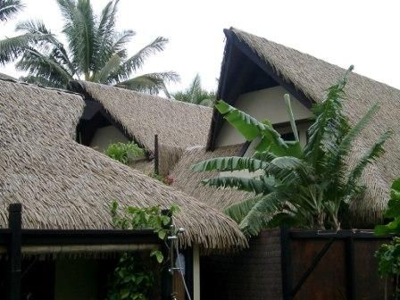 The dignity of the uplifted relief of the thatch roof of the Reflections Villa