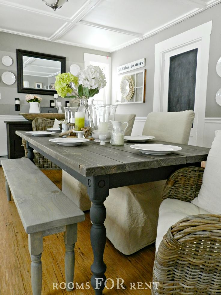 rooms for rent our new farmhouse dining table - New Kitchen Tables