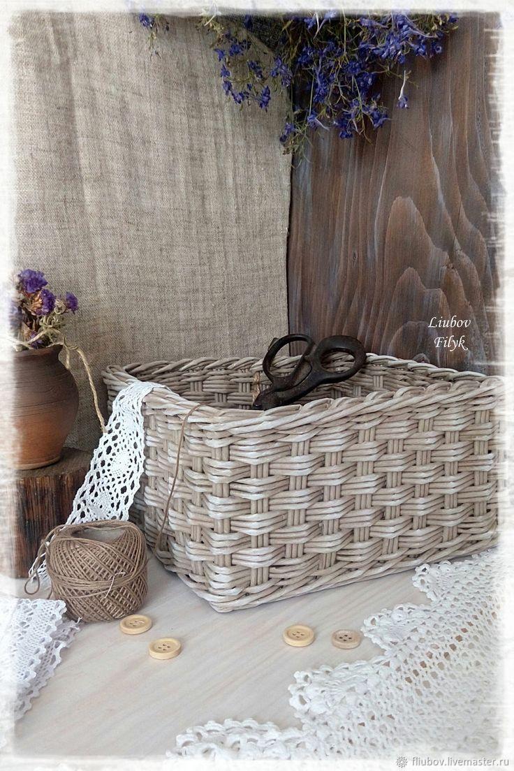 Купить Короб плетеный 'Осеняя пора' в интернет магазине на Ярмарке Мастеров
