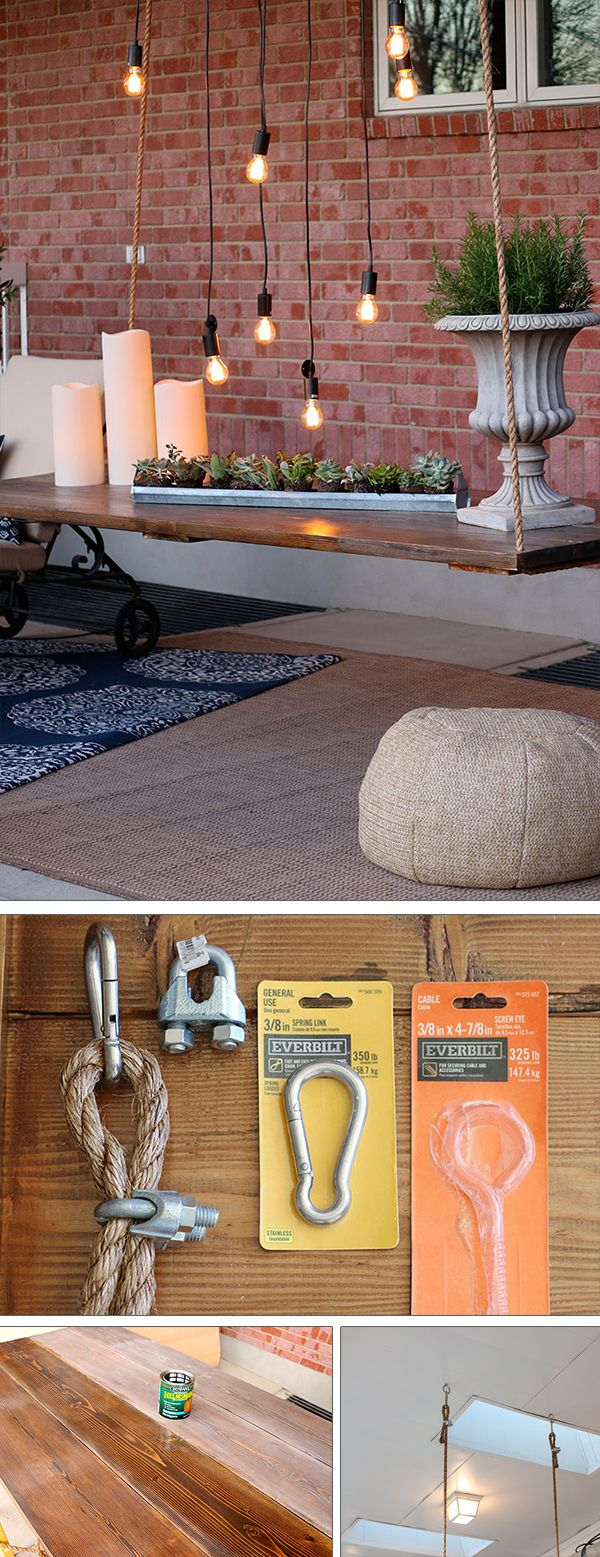 Check out the tutorial how to make a DIY hanging outdoor table @istandarddesign