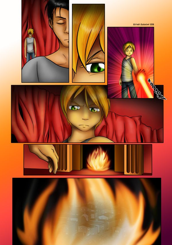 Hell and Heaven Comic - Page 106. Sample of my online comic. Ryan and his father had a conversation but youngers can't always understand the adults' purposes.   You can read the comic online for free here:  http://hellandheaven.net