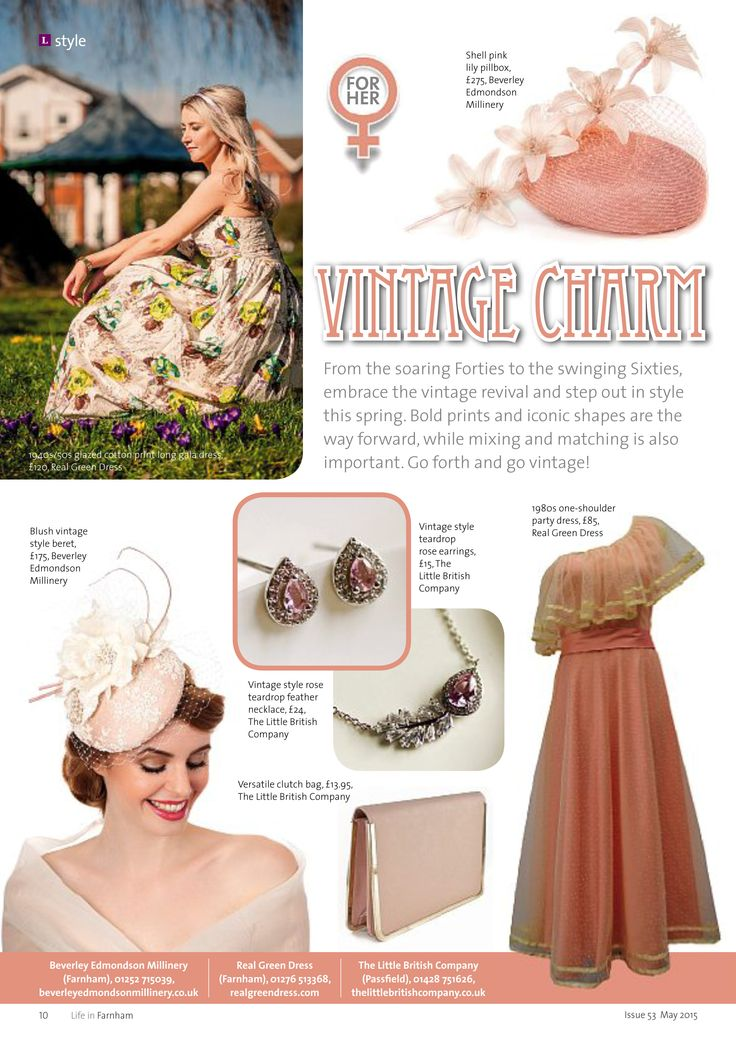 ~ Vintage charm ~ Take a step back in time this spring... #style #fashion #vintage #spring #Farnham #Surrey