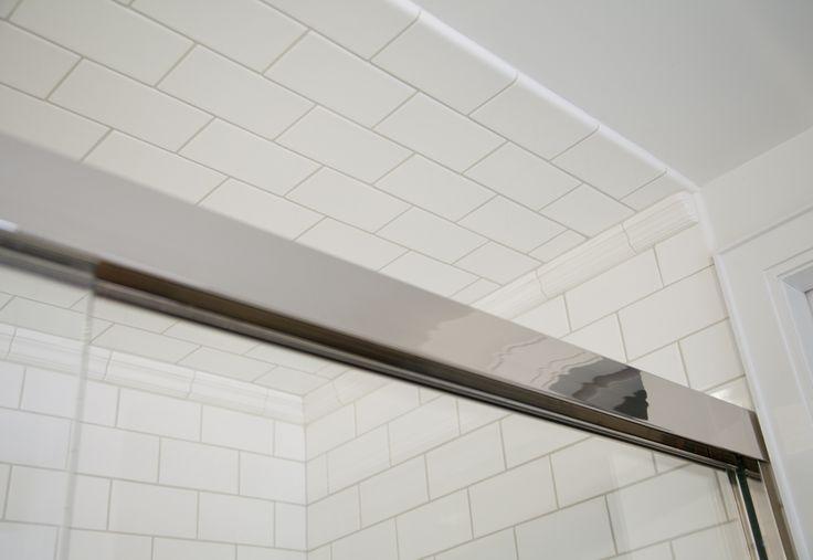 Subway Tile Finished Edge Subway Tile bullnose trim creates a finished edge for the ...
