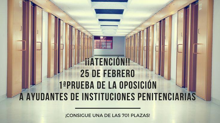 Buenos días opositores. Ya están publicados los criterios de valoración, corrección y superación del primer ejercicio de la oposición de Ayudante de Instituciones Penitenciarias que tendrá lugar el próximo DOMINGO 25  de febrero. ¡Ánimo y MUCHA SUERTE A TODOS! http://www.iipp.es/web/portal/administracionPenitenciaria/recursosHumanos/2017/AYUDANTES/CRITERIOS_DE_CORRECCIxN_DE_PRIMER_EJERCICIO.pdf