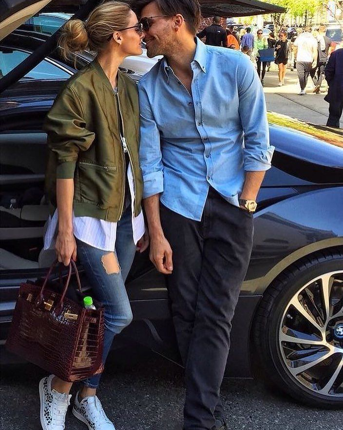 Photo by Olivia Palermo Daily. in Instagram. Couple goals ..