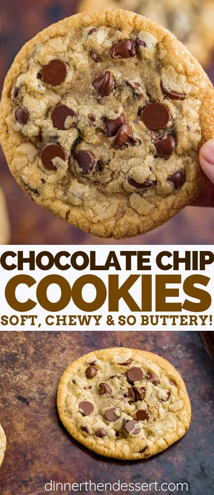 Chocolate Chip Cookies are a CLASSIC recipe that's soft, chewy, and made with on…