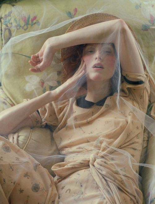 """Made in Britain,"" Karen Elson photographed by Tim Walker for Vogue UK December 2013"