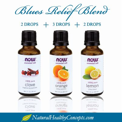 Now Foods essential oils Blues Relief Blend! Give it a whirl - get them from Natural Healthy Concepts
