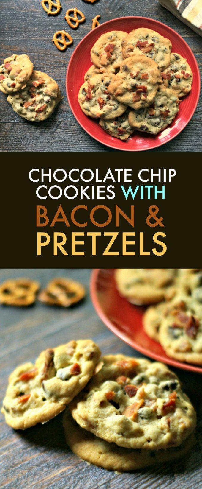 Bacon Pretzel Chocolate Chip Cookies