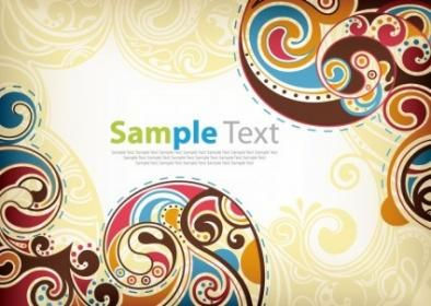Free Vector Floral Retro Background