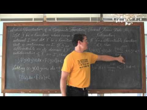 Indefinite Integration by Substitution