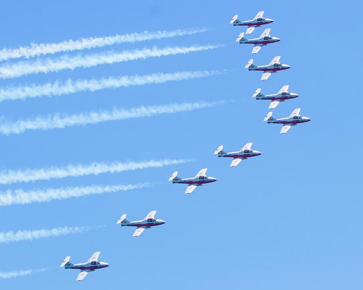 Canadian Air Force Snowbirds Photograph by Mark Andrew Thomas