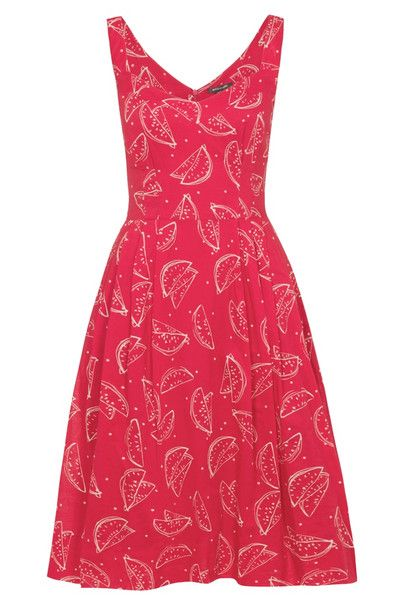 Emily & Fin Valerie Dress Vintage Red Watermelon Print at Campbell Crafts