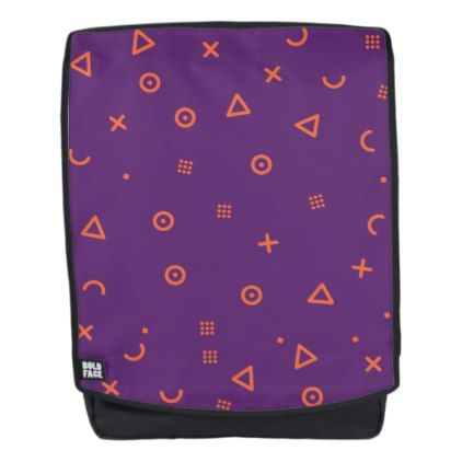 Happy Particles Purple Backpack  $49.95  by ParazitGoodz  - cyo customize personalize diy idea
