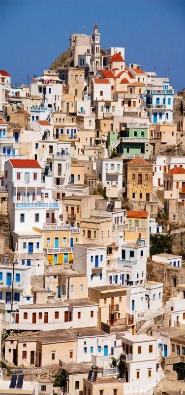Greece Travel Inspiration - Karpathos, Greece - Olympos is a community in the northern part of the island of Karpathos, in the Dodecanese, Greece.