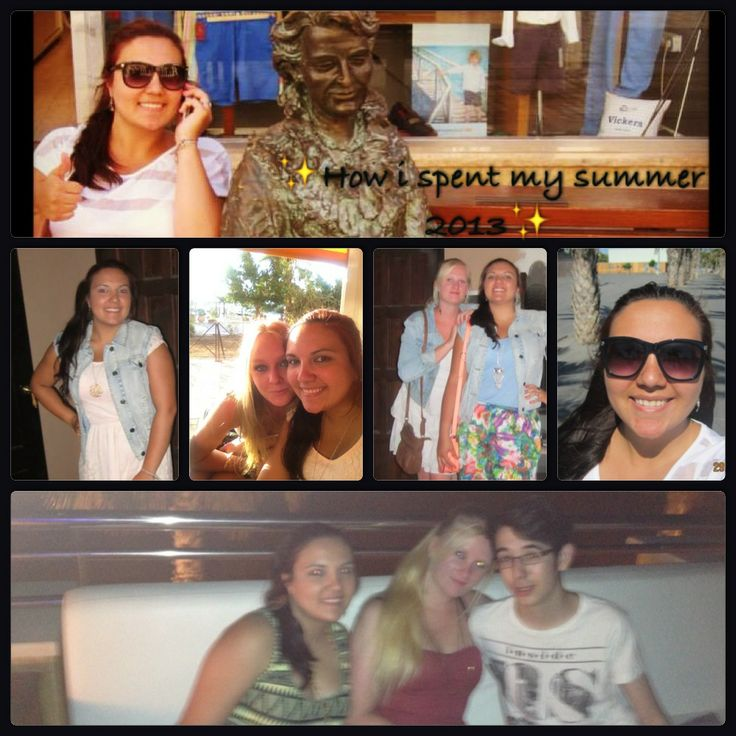 Here is a collage I made from my holidays in Murcia, Spain on July 2013, I have a friend that lives there so a stayed with her and her family and we had so much fun!