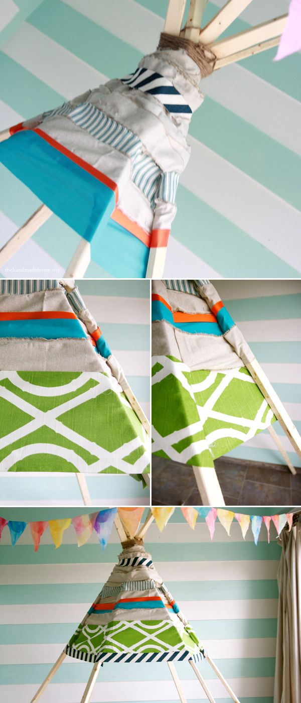 no sew teepee | the handmade home #kidsroom #teepee #DIY