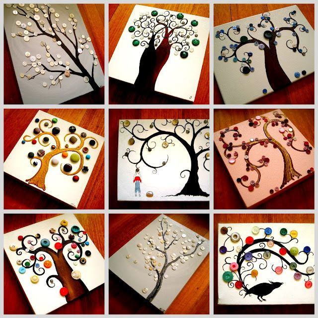 Button trees! Looks great as a collection. A potted ,small, branch tree with button ornaments would be pretty as well.