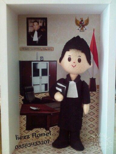 Lawyer... Felt doll