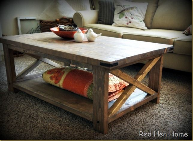 Red Hen Home Rustic X Coffee Table @Christina Childress Wild. Upstairs?