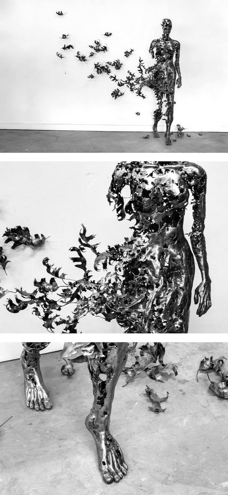 Artist Regardt van der Meulen continues to explore and exhibit the inherent fragility of the human body through steel sculptures in a series titled Deconstructed.