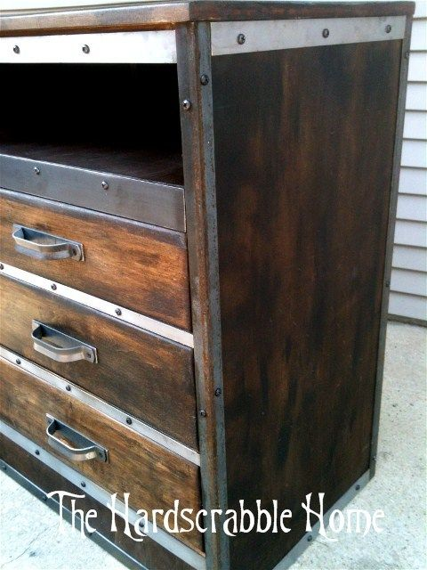 reclaimed dresser to industrial center the home