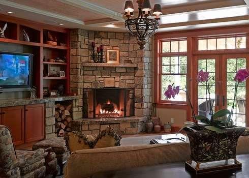 Best 25 corner fireplaces ideas on pinterest - Corner fireplace living room ideas ...