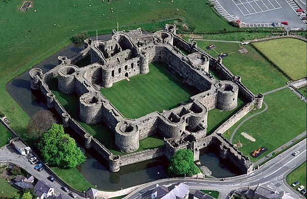 Beaumaris Castle as it stands today Waterfront long way