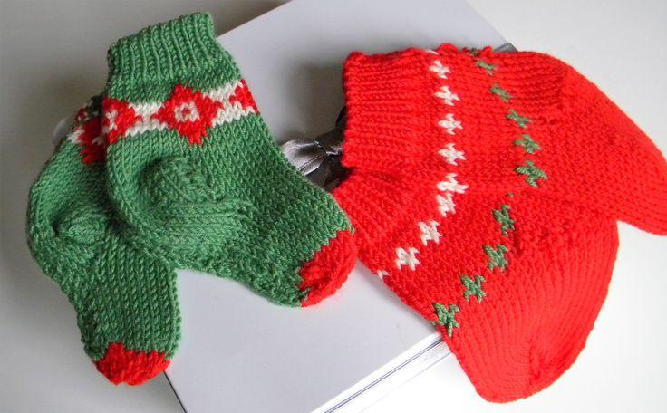 Calzini fatti a mano primo Natale