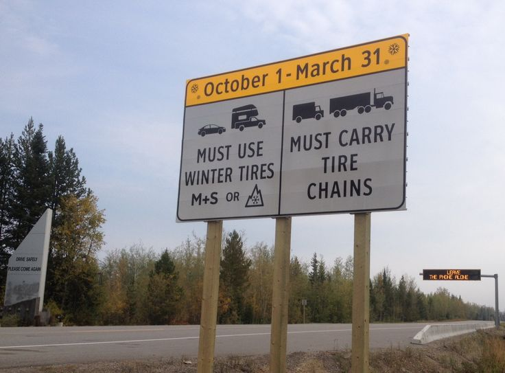 Winter Tires and Chains Sign