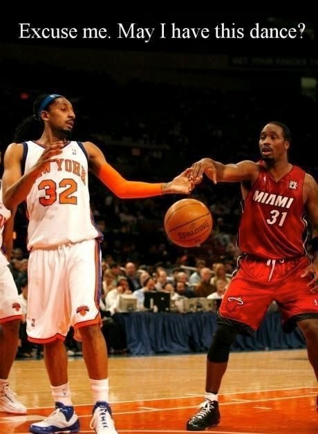 Excuse me, may I have this dance? #NBA #Knicks #Heat #Memes