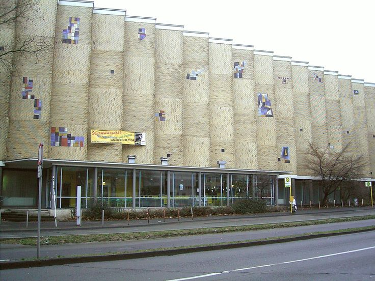 Berufskolleg Elberfeld (1952-58) in Wuppertal, Germany, by Friedrich Hetzelt of Hochbauamt Wuppertal