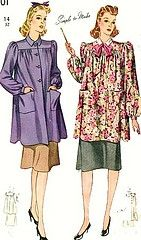 1940s maternity smocks
