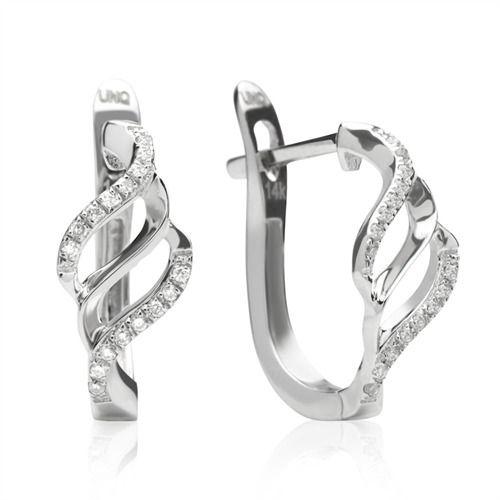 Moderne Diamant Creolen 0,28 ct gesamt Weißgold DE0047 www.thejewellershop.com/ #weißgold #diamantschmuck #schmuck #jewelry #diamanten #ohrringe #creolen #diamonds #gold