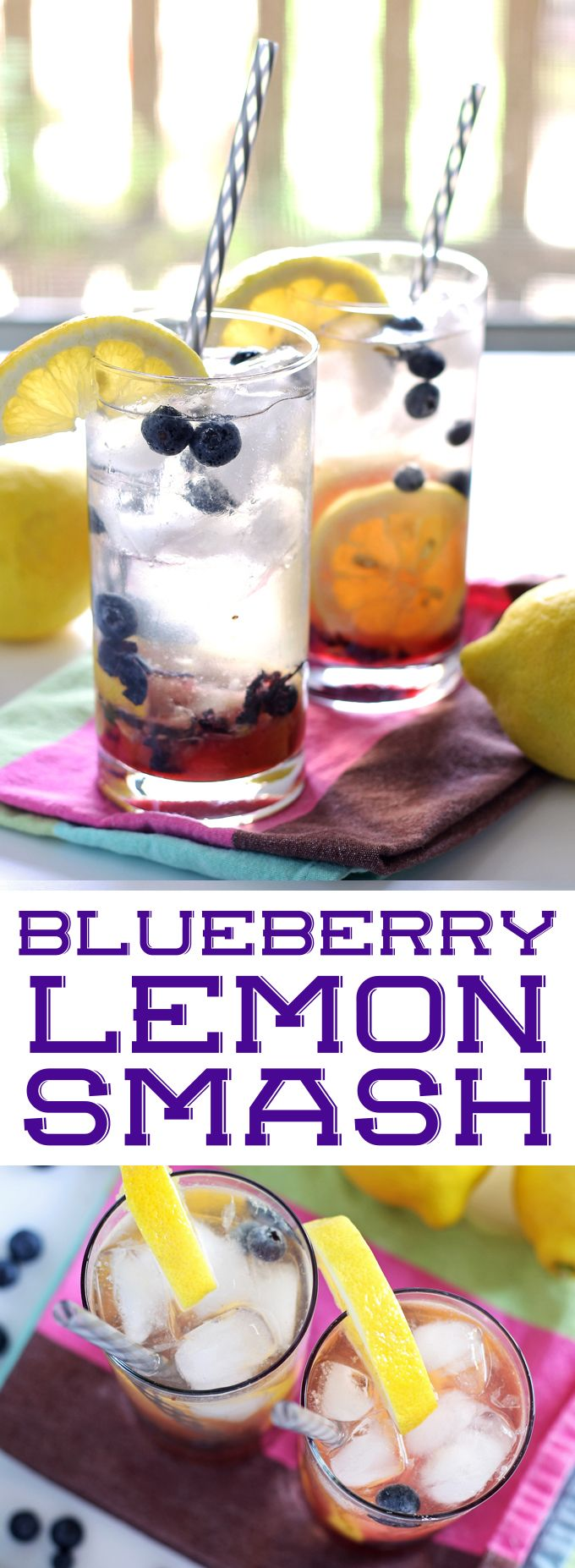 This blueberry lemon smash is the perfect rum cocktail for the end of summer! It's easy to make and refreshing – drink one on the next hot day! | honeyandbirch.com