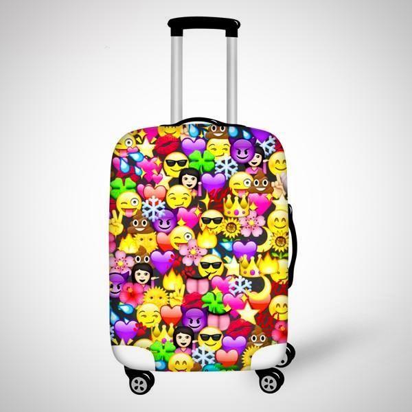Cute 3D Emoji Suitcase Covers   Чемоданы в 2019 г.   Чемоданы