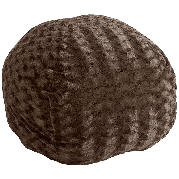 Fuzzy Chocolate Brown Bean Bag