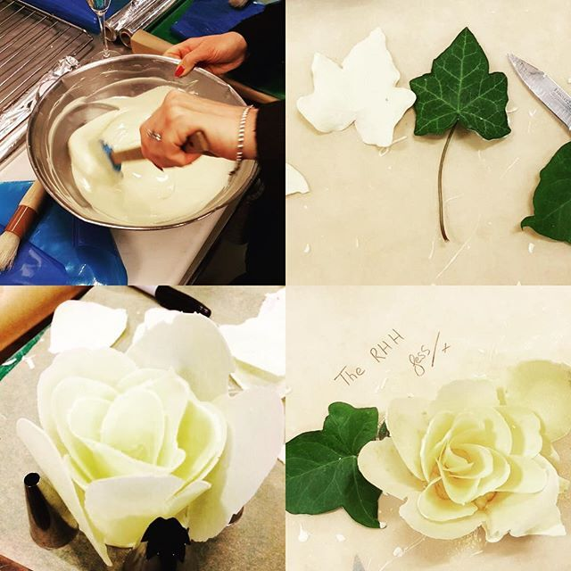 Last night the team were treated to a masterclass to create their very own white chocolate rose!    thank you for having us  @bovingdonscatering #bovingdonscateringmasterchef2018 #chocolateart #chocolate #tempering #catering #events #eventsprofs