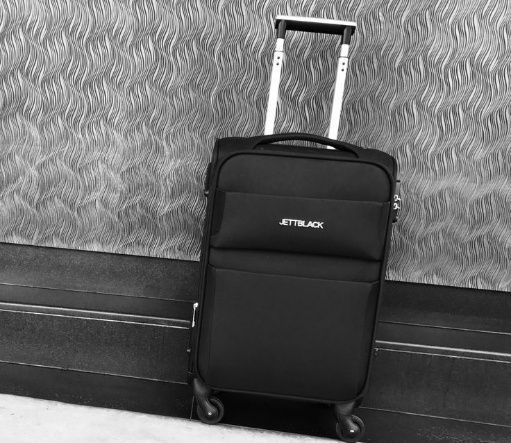 Raven Black Carry On Suitcase by Jett Black