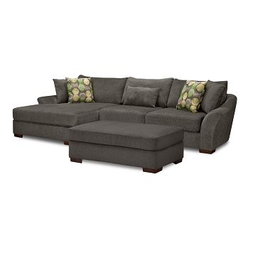 Oasis Upholstery 2 Pc. Sectional and Ottoman | Furniture.com $1,699.99