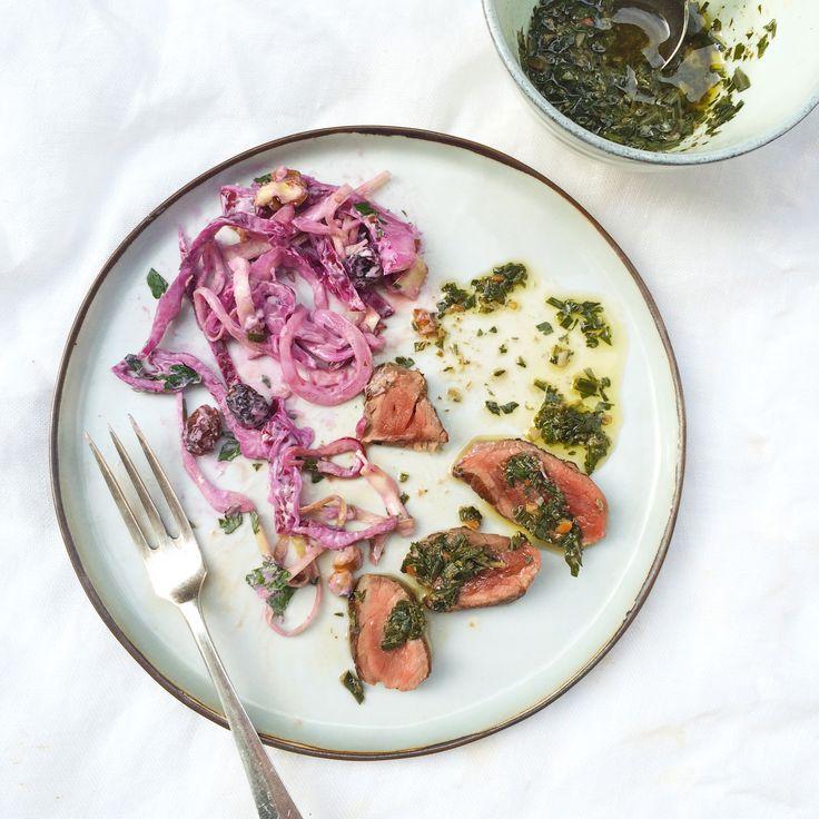 Kool salade recept met rode kool en yoghurt made by ellen