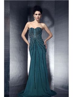 Polina's Mermaid/Trumpet Floor-length Sweetheart Evening Dress
