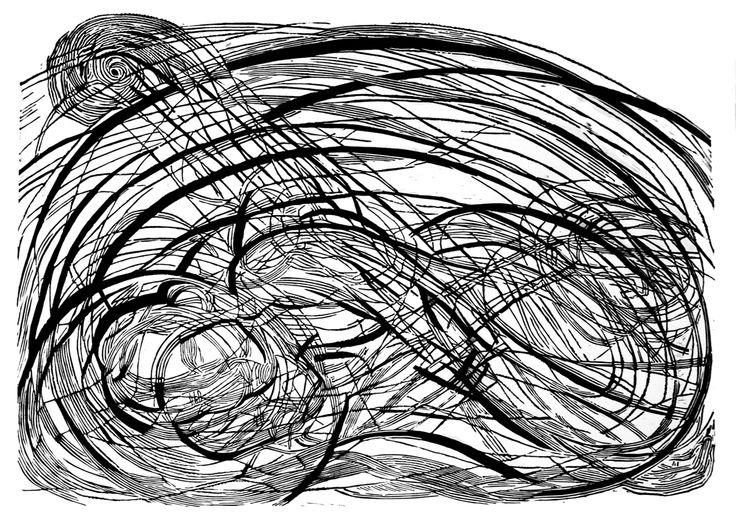 Virginia Woolf, 100x70cm linocut, 2013, Marta Bożyk