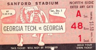 Great Georgia Football Ticket Art.