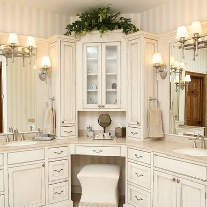 corner vanities design ideas pictures remodel and decor - Bathroom Cabinets Corner